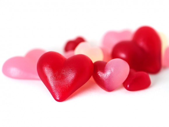 Stärke-Herzen-Mischung